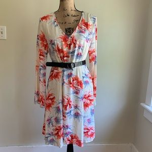 Pinkblush floral long sleeve dress size L